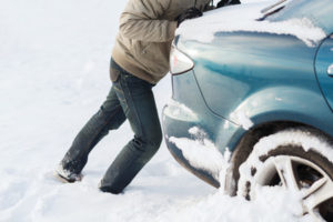 what to do if your car is stuck in the snow